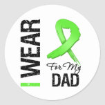 Lymphoma I Wear Lime Green Ribbon For My Dad Stickers