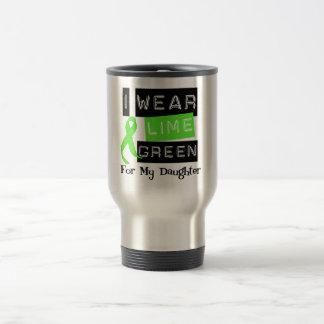 Lymphoma I Wear Lime Green Ribbon For My Daughter Travel Mug