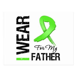 Lymphoma I Wear Lime Green Ribbon For My Father Postcard