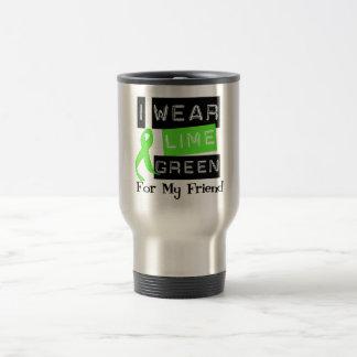 Lymphoma I Wear Lime Green Ribbon For My Friend Travel Mug