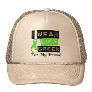 Lymphoma I Wear Lime Green Ribbon For My Friend Trucker Hat