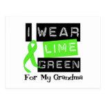 Lymphoma I Wear Lime Green Ribbon For My Grandma Postcard