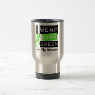 Lymphoma I Wear Lime Green Ribbon For My Grandpa Travel Mug