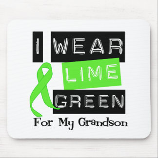 Lymphoma I Wear Lime Green Ribbon For My Grandson Mouse Pad