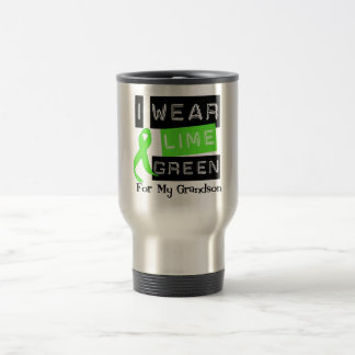 Lymphoma I Wear Lime Green Ribbon For My Grandson Travel Mug