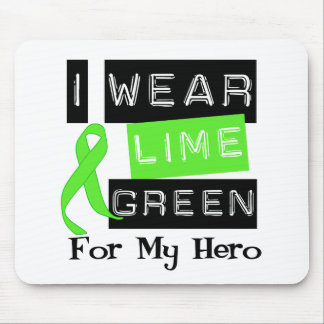 Lymphoma I Wear Lime Green Ribbon For My Hero Mouse Pad