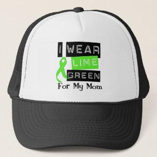 Lymphoma I Wear Lime Green Ribbon For My Mom Trucker Hat