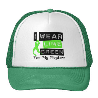 Lymphoma I Wear Lime Green Ribbon For My Nephew Trucker Hat