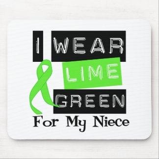 Lymphoma I Wear Lime Green Ribbon For My Niece Mouse Pad