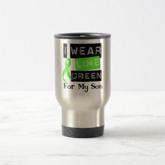 Lymphoma I Wear Lime Green Ribbon For My Son Travel Mug