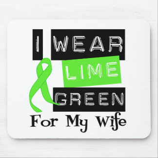 Lymphoma I Wear Lime Green Ribbon For My Wife Mouse Pad