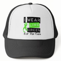 Lymphoma I Wear Lime Green Ribbon For The Cure Trucker Hat