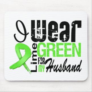 Lymphoma I Wear Lime Green Ribbon HUSBAND Mouse Mats