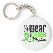 Lymphoma I Wear Lime Green Ribbon NEPHEW Keychain