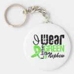 Lymphoma I Wear Lime Green Ribbon NEPHEW Keychains
