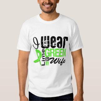 Lymphoma I Wear Lime Green Ribbon WIFE Tshirts