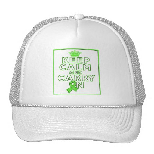 Lymphoma Keep Calm and Carry On Hat