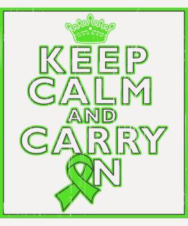 Lymphoma Keep Calm and Carry On Tee Shirts