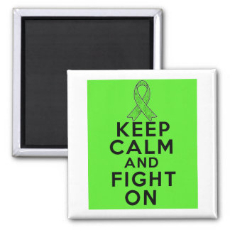 Lymphoma Keep Calm and Fight On 2 Inch Square Magnet