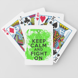 Lymphoma Keep Calm and Fight On Bicycle Playing Cards