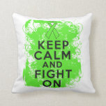 Lymphoma Keep Calm and Fight On Throw Pillows