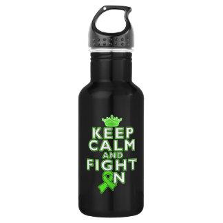 Lymphoma Keep Calm Fight On 18oz Water Bottle