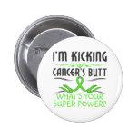 Lymphoma Kicking Cancer Butt Super Power Buttons