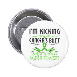 Lymphoma Kicking Cancer Butt Super Power Pinback Button