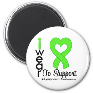 Lymphoma Lime Green Heart Ribbon Awareness Refrigerator Magnet
