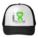 Lymphoma Lime Green Heart Support Dad Hat