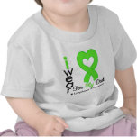 Lymphoma Lime Green Heart Support Dad T Shirt