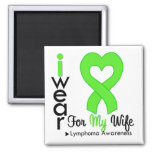 Lymphoma Lime Green Heart Support Wife Magnet