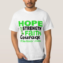 Lymphoma Lime Green HOPE 3 Non-Hodgkin's T-Shirt