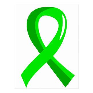 Lymphoma Lime Green Ribbon 3 Postcard
