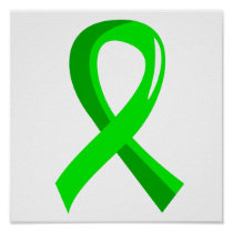 Lymphoma Lime Green Ribbon 3 Poster