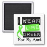 Lymphoma Lime Green Ribbon Aunt Magnet