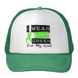 Lymphoma Lime Green Ribbon Aunt Trucker Hats