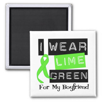 Lymphoma Lime Green Ribbon Boyfriend Magnet