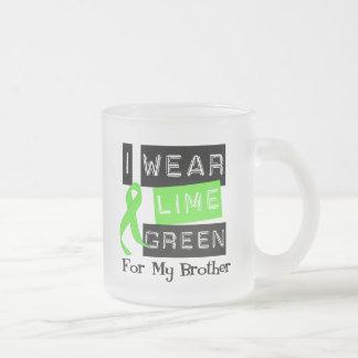 Lymphoma Lime Green Ribbon Brother Coffee Mugs