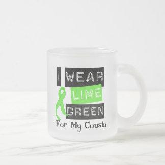 Lymphoma Lime Green Ribbon Cousin Mugs