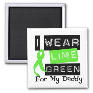 Lymphoma Lime Green Ribbon Daddy Magnets