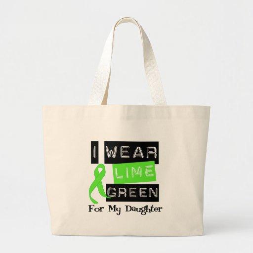 Lymphoma Lime Green Ribbon Daughter Canvas Bag