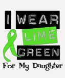 Lymphoma Lime Green Ribbon Daughter Tee Shirt