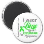 Lymphoma Lime Green Ribbon For Awareness Refrigerator Magnets