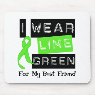 Lymphoma  Lime Green Ribbon For My Best Friend Mouse Pad