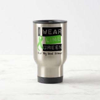 Lymphoma  Lime Green Ribbon For My Best Friend Travel Mug