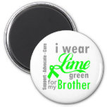 Lymphoma Lime Green Ribbon For My Brother Refrigerator Magnets