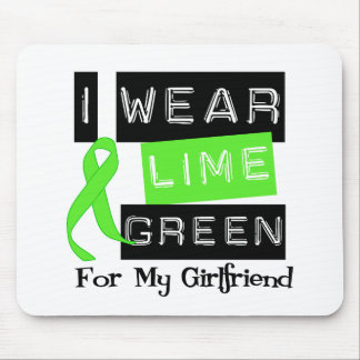 Lymphoma Lime Green Ribbon For My Girlfriend Mouse Pad
