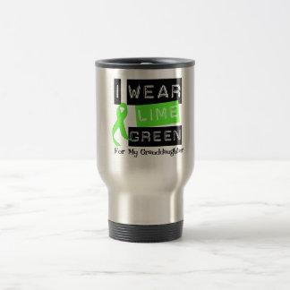 Lymphoma Lime Green Ribbon For My Granddaughter Travel Mug