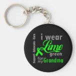 Lymphoma Lime Green Ribbon For My Grandma Key Chain